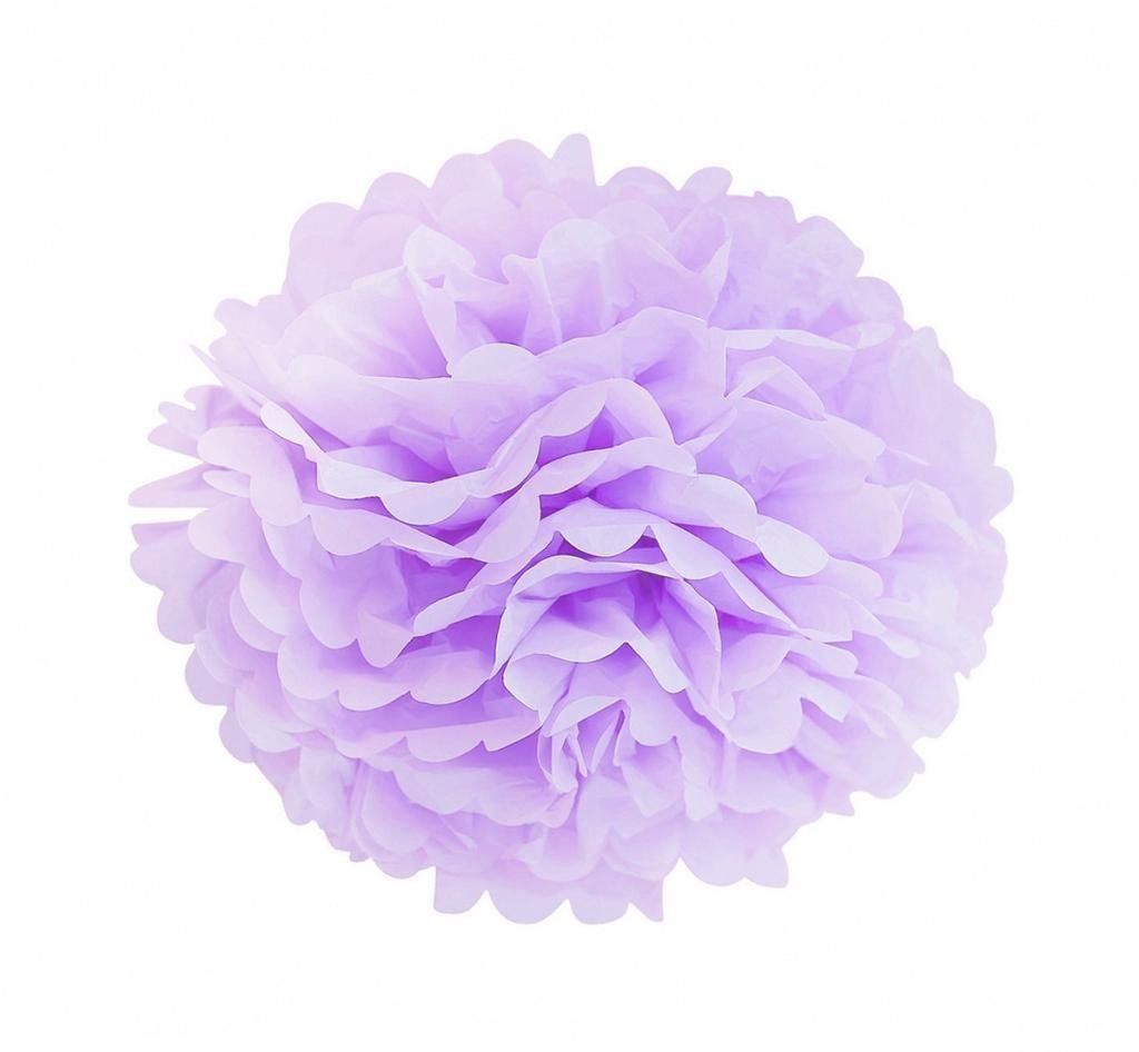 Sopeace 17 PCS 8'' 10'' Lavender Purple Pink White Tissue Paper Pom Pom Flowers and Paper Lanterns Party Decoration by Sopeace (Image #6)