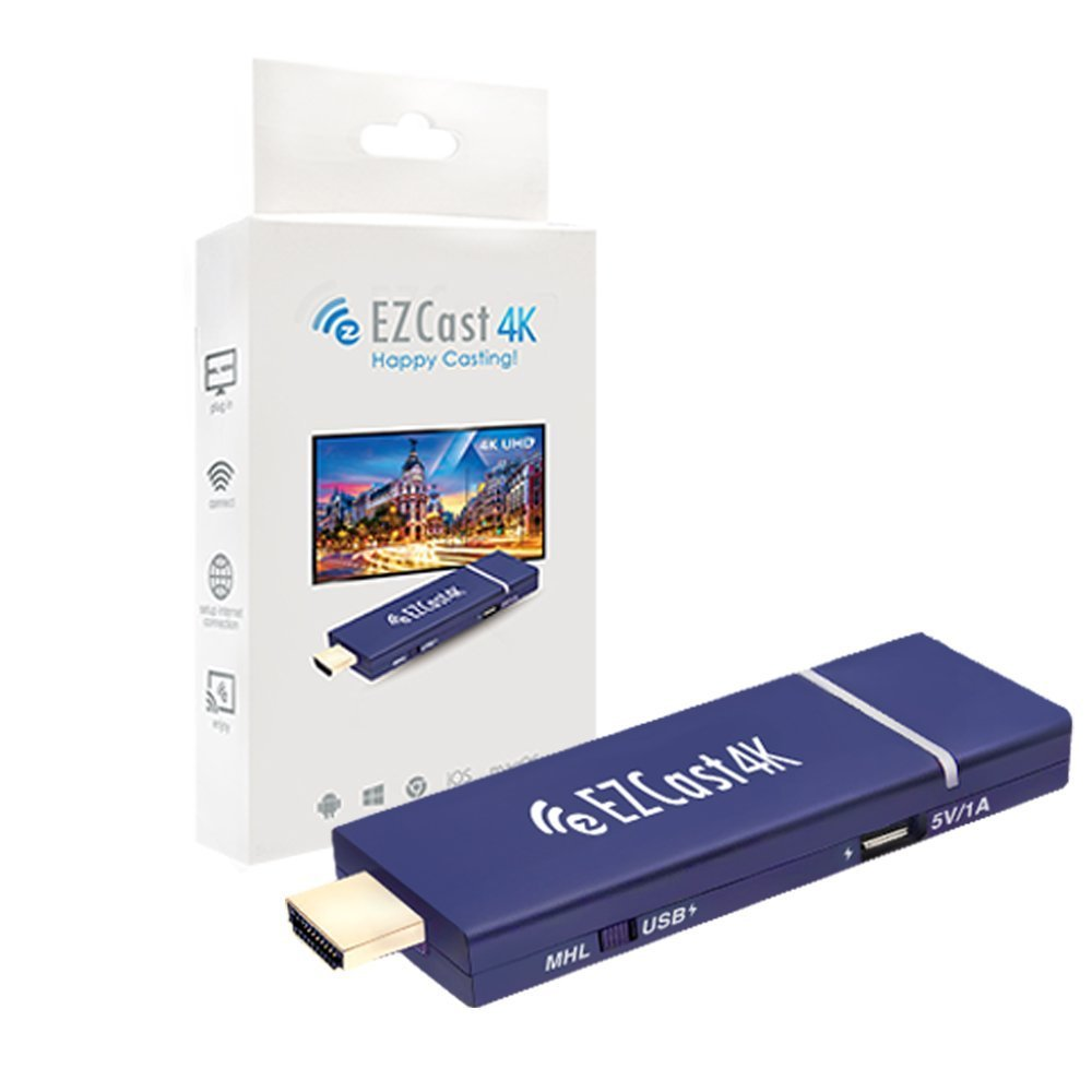 EZCast 4K x 2K HDMI WiFi Display Dongle Receiver 2.4G/5G Dual Band H.265 4K Decoding Stick Support MiraCast AirPlay DLNA by EZCast