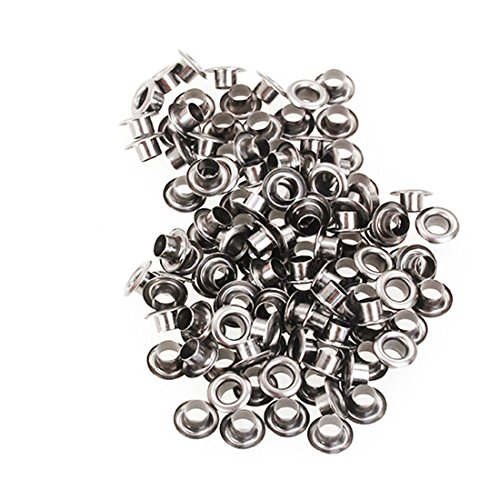 200pcs/lot 3mm Metal Eyelets Grommet for Leather Craft Bags SLiver(without ()