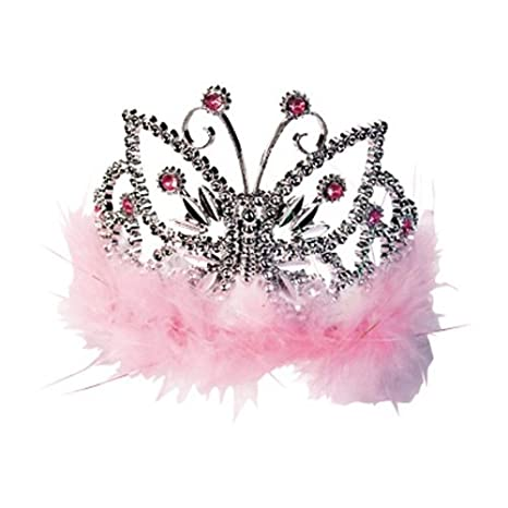 Diadem Girls Night Marabu Edelsteine pink Krone Zubehör Kostüm Prinzessin Party