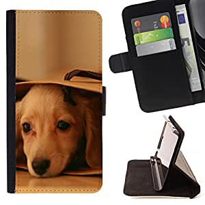 Super Marley Shop - Leather Foilo Wallet Cover Case with Magnetic Closure FOR Samsung Galaxy S3 III I9300 I9308 I737- Golden Retriever Dog Paws