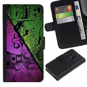 A-type (Buena Divertida Internet Meme Troll Cara triste No ¿Por qué oso) Colorida Impresión Funda Cuero Monedero Caja Bolsa Cubierta Caja Piel Card Slots Para Samsung Galaxy S3 MINI 8190 (NOT S3)