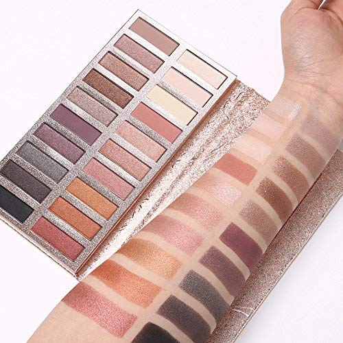 Eyeshadow Palette Makeup - Matte + Shimmer 20 Colors - High Pigmented - Professional Vegan Nudes Warm Natural Bronze Neutral Smokey Cosmetic Eye Shadows Kit