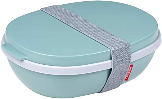 Plastic Rosti Mepal RST76480NG Ellipse Duo Reusable Meal Prep Lunch Pot Nordic Green