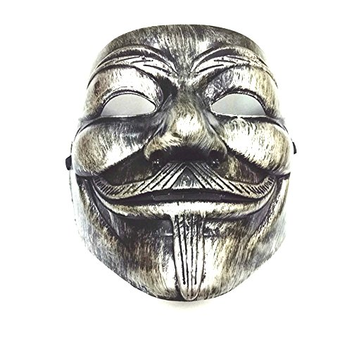 Masquerade Mask For Guys (V for Vendetta Guy Fawkes Mask)