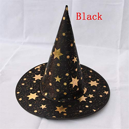 Party Hats - Witch Hats Spider Star Masquerade Ribbon Wizard Hat Halloween Party Fancy Dress Decor Cosplay - Gold Jungle Tropical Teal Patricks Cone Peppa Cats Rainbow Turquoise Baby Crowns -