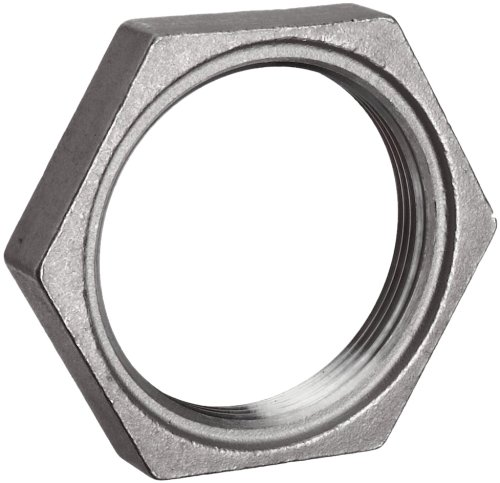 Stainless Steel 304 Cast Pipe Fitting, Hex Locknut, MSS SP-114, 1/2 NPT Female