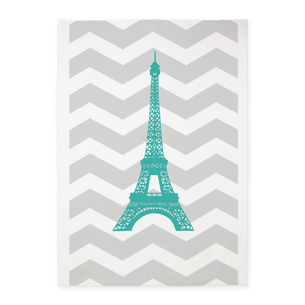 5f98c9ae2c9 Amazon.com  CafePress Turquoise Paris Grey Chevron Decorative Area ...