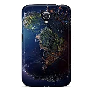 Scratch Protection Hard Phone Case For Samsung Galaxy S4 With Custom Fashion Digital World Image Iphonecase88