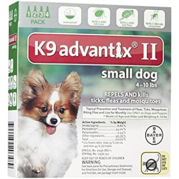 K9 Advantix II Small Dog 4-Pack