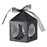 Home Kitty 50pcs Halloween Theme Party Gift Favor Candy Boxes with Ribbons - Cobweb Style Hens Night Out Fun Favors