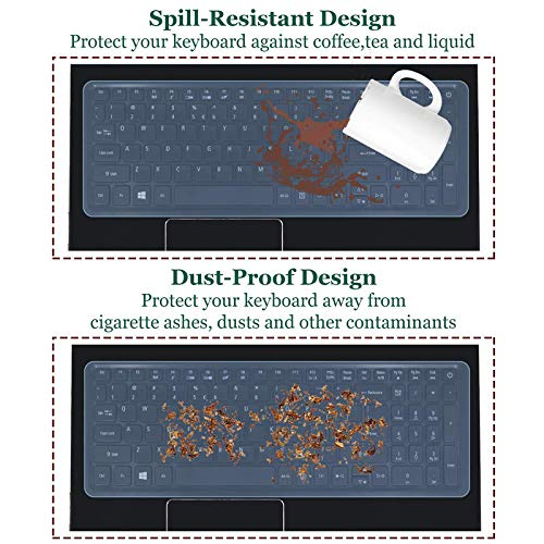 Fedus Universal Silicone Keyboard Protector Cover Skin Dust Protector for All 13.3 to 14.0-inch Laptop