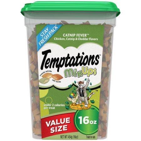 PACK OF 6 - TEMPTATIONS MixUps Treats for Cats CATNIP FEVER Flavor 16 Ounces