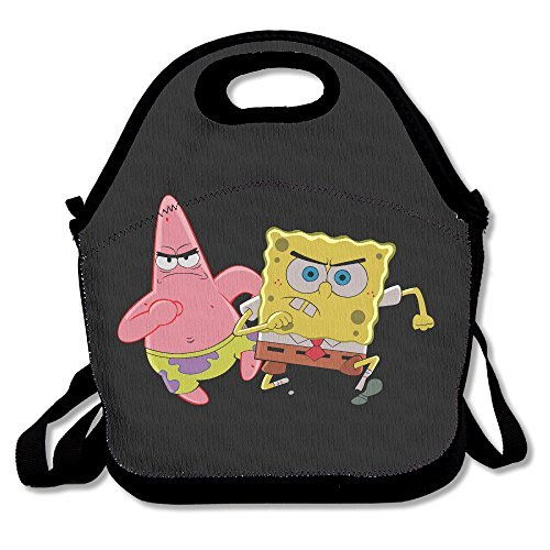 SpongeBob Patrick Lunch Box Bag For Kids And Adult,lunch Tote Lunch Holder With Adjustable Strap For Men Women Boys Girls,This Design For Portable, Oblique Cross,double (Female Spongebob)