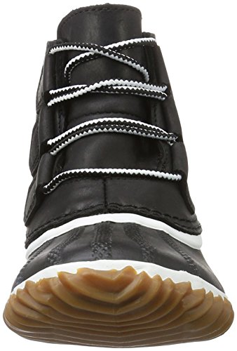 Sorel N About Leather, Botas Chukka Para Mujer Negro (Black, White 011Black, White 011)