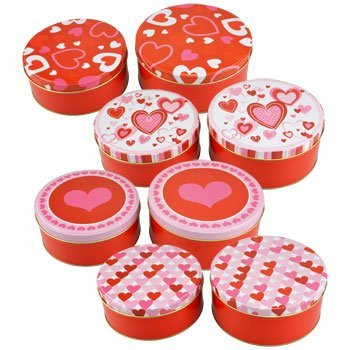 Valentine's Day Gifts & Decorations (Round Tins with Lids) by Greenbrier