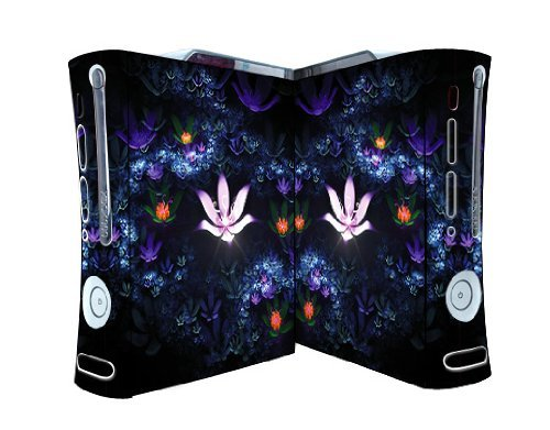 Bundle Monster Vinyl Skins Accessory For Xbox 360 Game Console - Cover Faceplate Protector Sticker Art Decal - Lotus Pond