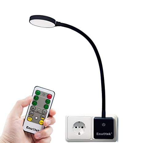 LED Nachtlicht Wandlampe Silber mit Netzstecker An//Aus per TOUCH Steckerlampen