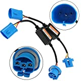 HonsCreat 2PCS 9004 LED Headlight Canbus Wiring Kit, Error Free Anti Flicker Resistor Canceler Decoder