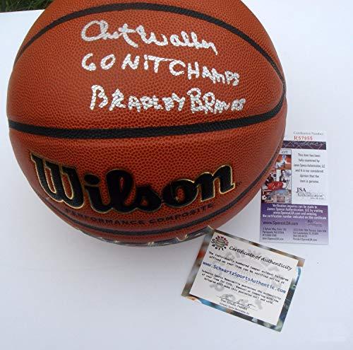 Chet Walker Autographed Signed Memorabilia Wilson Ncaa Basketball I/O 2 Inscript Schwartz Sports - JSA Authentic