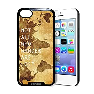 MEIMEIShawnex Not All Who Wander Are Lost ipod touch 4 Case - Thin Shell Plastic Protective Case ipod touch 4 CaseLINMM58281