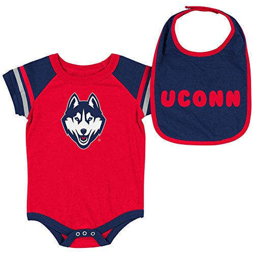UCONN Connecticut Huskies Infant Bodysuit and Bib Set for sale  Delivered anywhere in USA