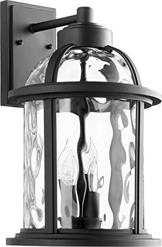 Quorum International 7760-4-69 Winston 4 Light 18 inch Noir Outdoor Wall Lantern