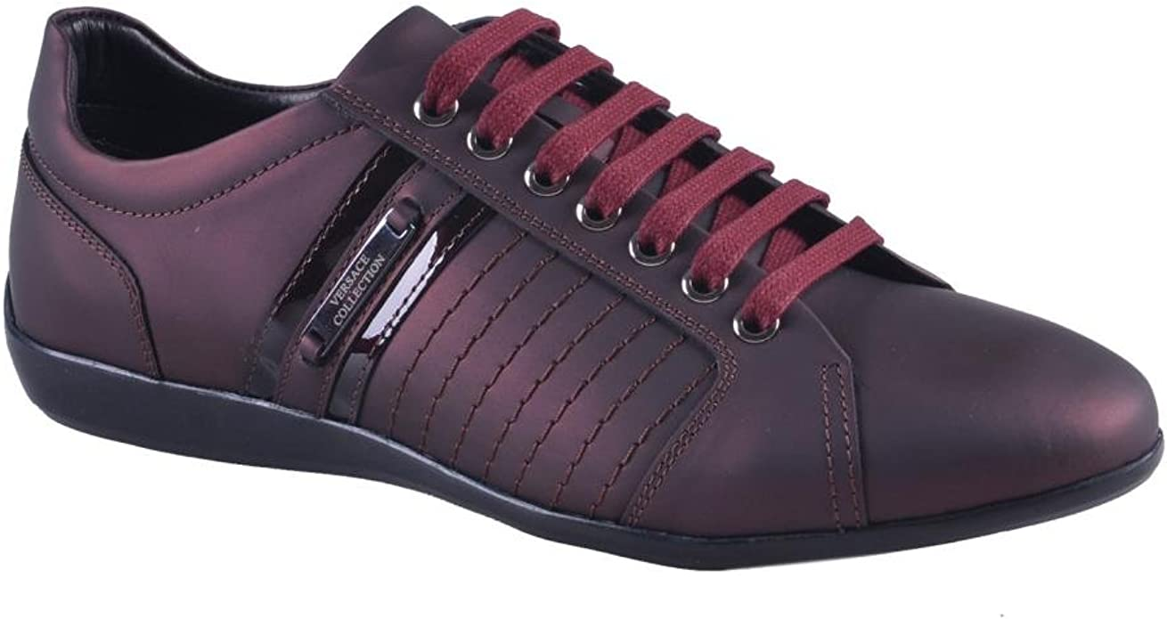 versace slippers burgundy