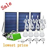 [30W Collapsible Solar Panel]Falove 30W Portable Foldable Solar Panel Home System Kit- including Solar Panel,Controller,Bulbs and Cellphone Charging Accessories