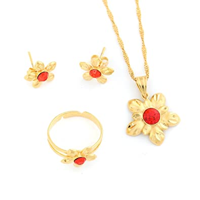 Cute Small New Ethiopian Gold Jewelry Set Gold Plated Habesha