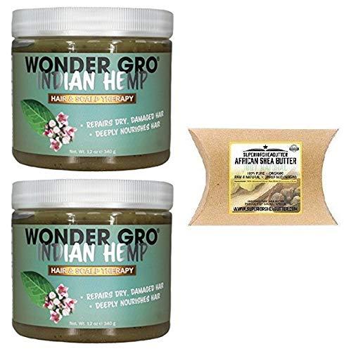 (Wonder Gro Hair&Scalp Therapy Indian Hemp 12oz (2PCS))