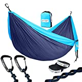 Why you choose our camping hammock 1.With this camping hammock, You can use it as sunshade, camping/beach blanket, swing chair, blanket for camping, hiking, travelling. When you've got a camping hammock with you, you've also got a comfortable camp ch...