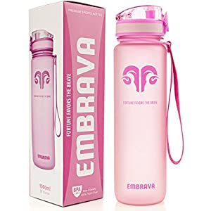 Best Sports Water Bottle - 32oz Large - Fast Flow, Flip Top Leak Proof Lid w/ One Click Open - Non-Toxic BPA Free & Eco-Friendly Tritan Co-Polyester Plastic (PINK)