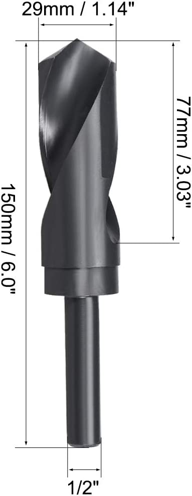 Taper Shank Drills 2 Pack 118/° Point Drillco Drill Bit 25//64 Shanks Smaller and Larger Black Oxide High Speed Steel