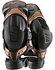 EVS Sports Unisex-Adult Axis Pro Knee Brace-Pair (Black/Copper, Medium), 2 Pack