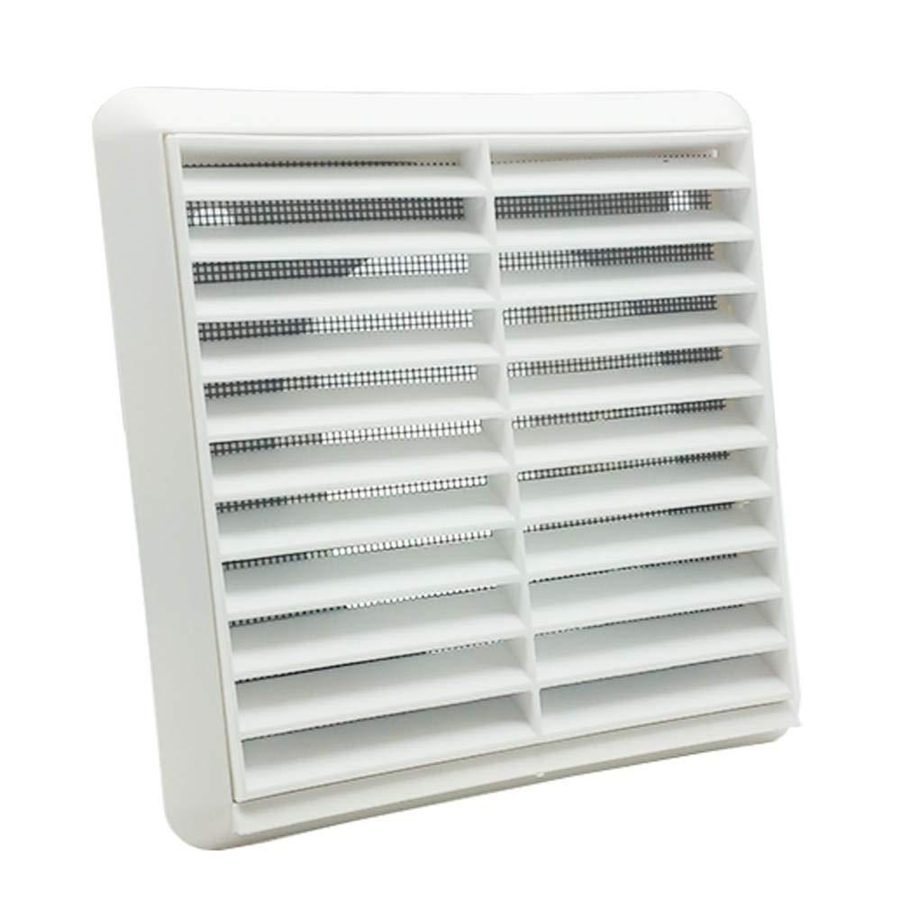 Kair 100 mm, rejilla de ventilació n con mosquitera, Para uso externo/interno con conductos redondos - blanco rejilla de ventilación con mosquitera