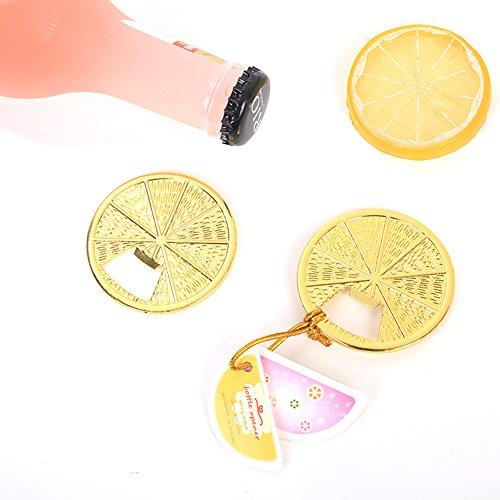 - Youkwer 12 PCS Unique Skeleton Golden Orange Shaped Bottle Opener with Escort Tag Card for Wedding Party Favors Gift & Decorations (Orange,Golden)