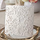 Wishmade 50 pcs Elegant White Laser Cut Wedding Invitations Cardstocks For Engagement Party Birthday Bridal Shower Invitations PK839_WH