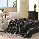 Animal Prints MicroPlush Leopard Queen Blanket Gray & Black