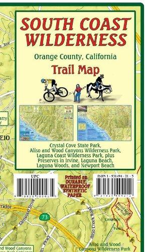 South Coast Wilderness Trail Guide Orange County California Franko Maps Waterproof Map