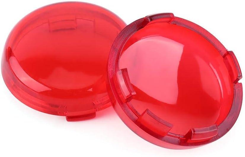2 piezas Cubiertas de Luz de Intermitentes Direccional Rojo Tapa Pl/ástico de la Luz de Intermitentes de la Moto