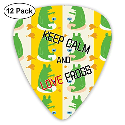 - JsMuryobao Guitar Picks Custom Cool Unique Design for Electric Acoustic Bass Ukulele Crown Keep Calm and Love Frogs
