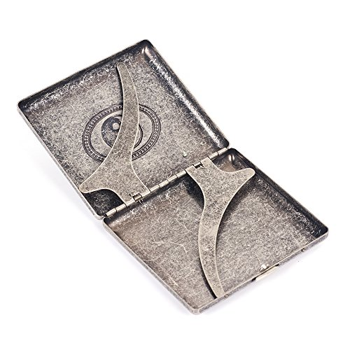 Leaf Holds 20 Copper Holder Case Marijuana Grey Metal Cigarettes Box Pure Cigarette Taichi aYUvqO