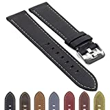 DASSARI Quick Release Distressed Italian Leather Watch Strap Band 20mm 22mm
