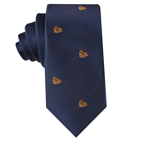 Animal Ties   Woven Neckties   Gift for Men   Work Ties for Him   Birthday Gift for Guys (Bronze Puppy)