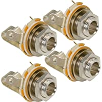 Switchcraft Type 11 ( Pack of 4 ) Stereo 2-Conductor Input Jack, 1/4 , Double Open Circuit, Made in USA