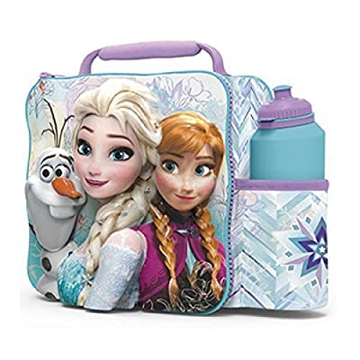 FROZEN Kids Children 3D Lunch Box Bag With Sport Water Bottle: Toys & Games