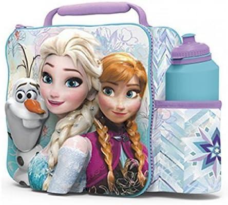 Frozen Kids niños 3d caja de almuerzo bolsa con el deporte botella ...