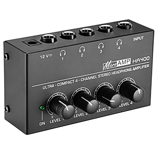 Neewer Super Compact 4-Channel Stereo Headphone Amplifier wi