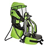 ClevrPlus Premium Cross Country Baby Backpack Hiking Child Carrier with Stand and Sun Shade Visor Kid Toddler, Green | Lightweight - 5lbs | 1 Year Limited Warranty